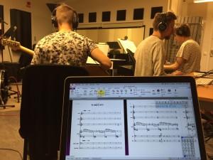 Studioinspelning av musikallåtar
