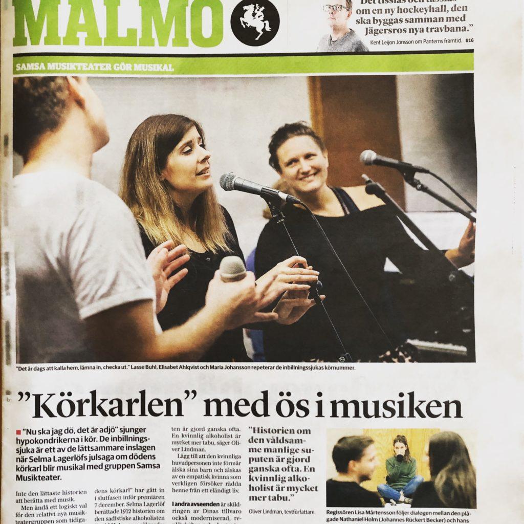 Samsa Musikteater i Sydsvenskan